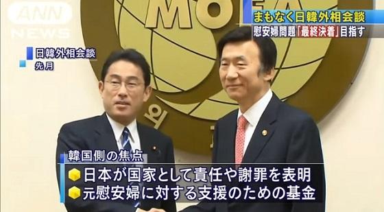 【ソウル時事】日韓両国間の大きな懸案となってきた、いわゆる従軍慰安婦問題をめぐる両政府の協議が28日、合意した