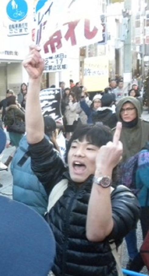 ■逮捕20160110慰安婦問題での日韓合意を糾弾する国民大行進
