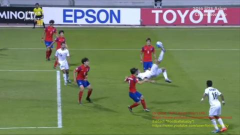 Korea 1-0 Jordan 2nd half U23 Asian Championship