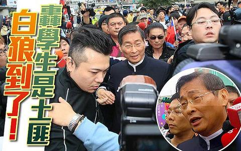 支那大陸との「サービス貿易取り決め」を支持する台湾労工福利連盟などのメンバーらは1日、反対派の学生が先月18日から議場占拠を続ける立法院(国会)前で活動の中止や代表との対話などを求めるデモを行い、不測の