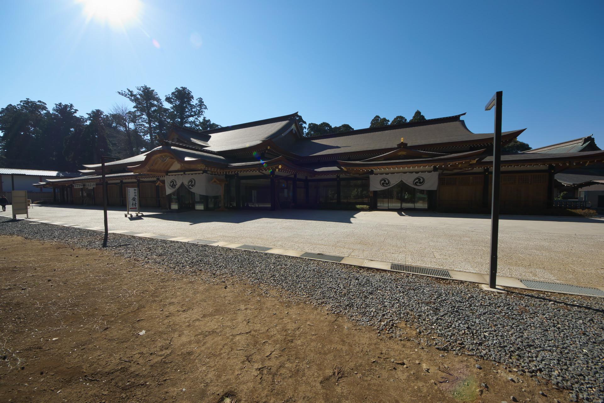 H26年竣工の新祈祷殿・庁舎