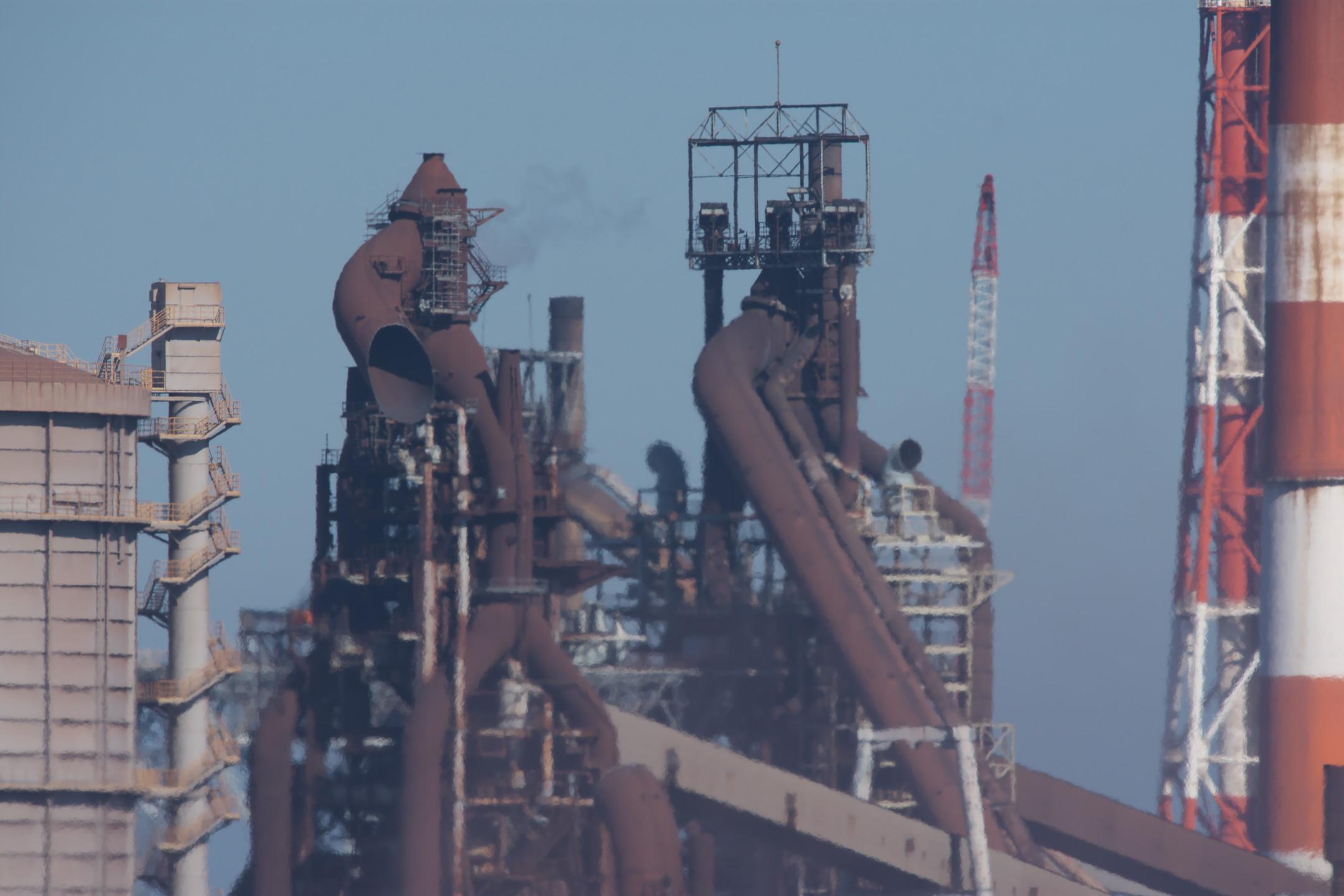 一貫製鉄所のシンボル「高炉」