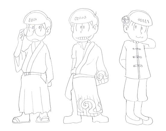 iおそ松=銀さん チョロ松=新ちゃん トド松=神楽ちゃん