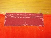 縫い代の線は斜め