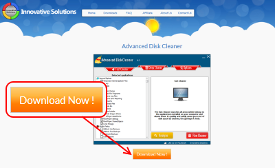 Advanced Disk Cleaner ダウンロードページ