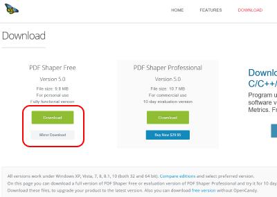 PDF Shaper ダウンロード