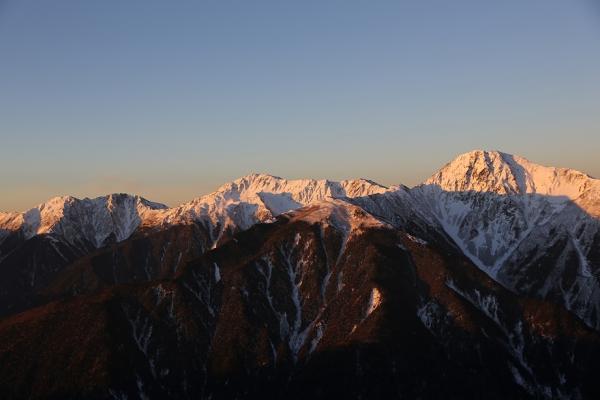 モルゲンロート三山