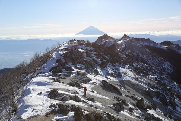 富士を眺め眺めながら下山