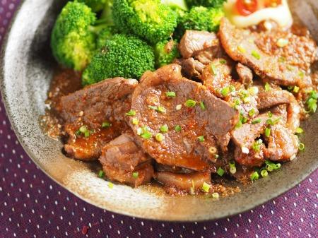 鹿肉生姜焼き42