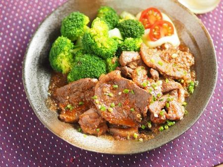 鹿肉生姜焼き41