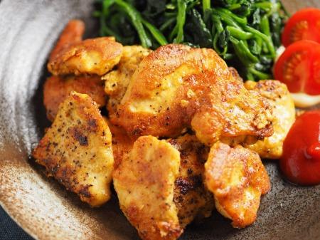 鶏むね肉のカレーピカタ22
