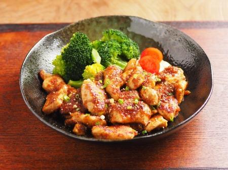 鶏むね肉の生姜焼き16