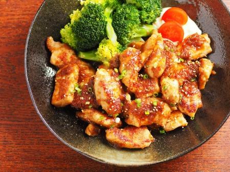 鶏むね肉の生姜焼き23