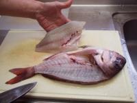 鯛の姿造り、姿造り用の捌きt45