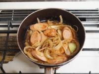 魚肉ソーセージのしょうが焼きt29