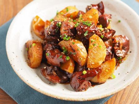 鶏レバーと長芋の鍋照り焼きt11