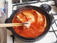 鶏むね肉とキャベツのトマト鍋t38