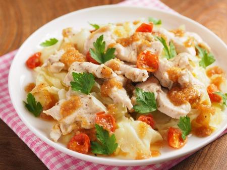 鶏むね肉とキャベツの温サラダt04