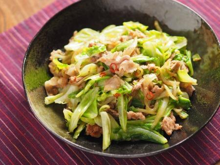 キャベツの生姜味噌炒めt14