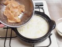 鶏むね肉のミルク鍋t35