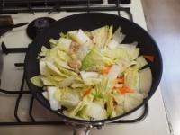 白菜のクリームスープスパゲティt28