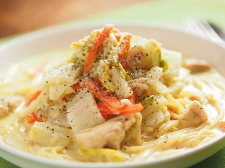白菜のクリームスープスパゲティt14