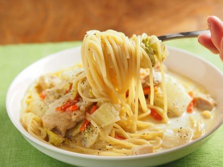 白菜のクリームスープスパゲティt19