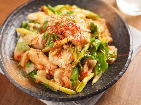 鶏むね肉とセロリのキムチサラt19