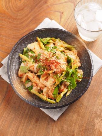 鶏むね肉とセロリのキムチサラt07