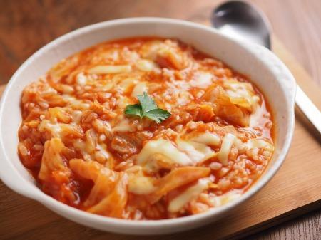 残った鍋でトマトリゾット12