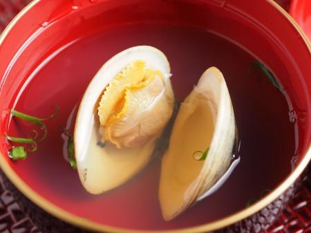 ホンビノス貝の吸い物t10