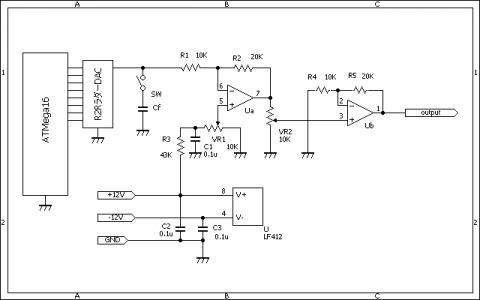 AVR_DDS_アナログ部改善回路