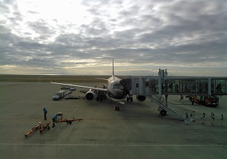 朝の宇部空港
