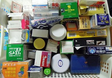 実家に散在していた薬、健康食品