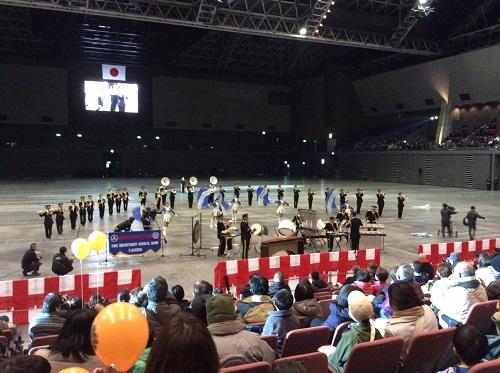 H28年1月9日福岡市消防出初式、音楽隊ドリル演奏