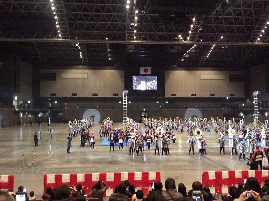 H28年1月9日福岡市消防出初式、消防伝統技術演技3