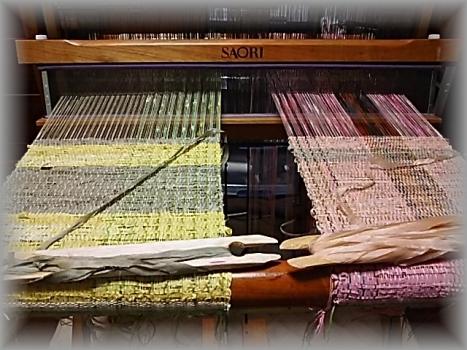 ミニマフラー織り始め