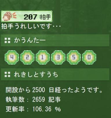 2500日記念