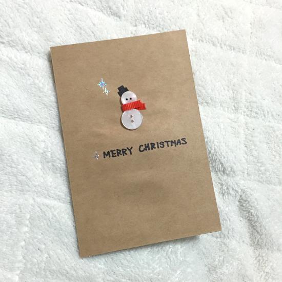 20151222手作りクリスマスカード①