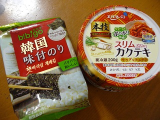 本技スリムカクテキ200g/韓国味付けのり1パック