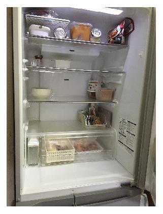 普段の冷蔵庫