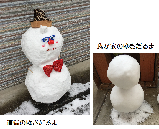 2016 1 24 雪だるま