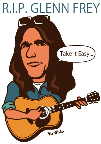 Glenn Frey Eagles caricature