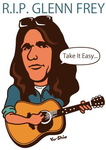Glenn Frey Eagles caricature