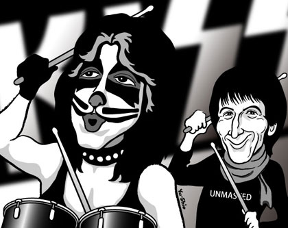 Peter Criss Kiss caricature