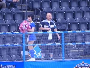 試合開始後、かづきちゃんが3塁側に
