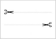 切り取り線のテンプレート・フォーマット・雛形