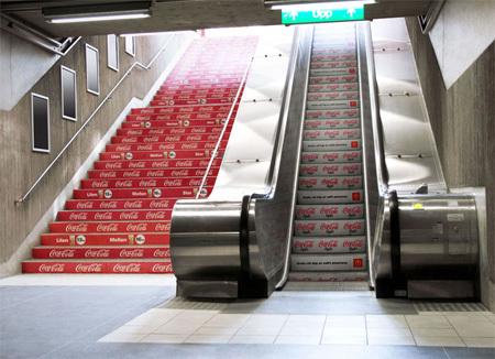 $エクストリームのほぼ日刊ブログ-階段を使ったおもしろ広告3