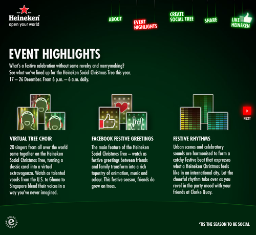 Heineken: Super Social Christmas Tree