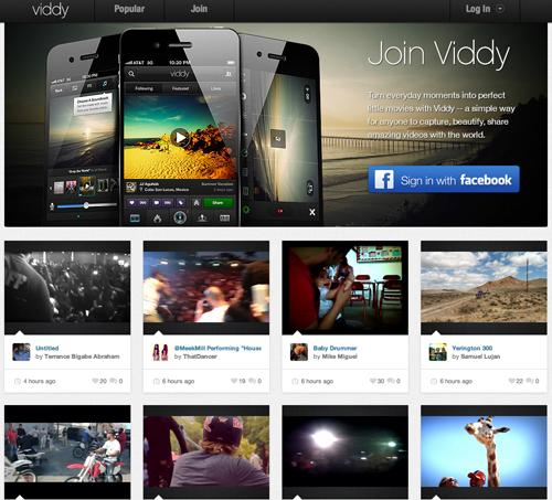 動画版のInstagram、「Viddy」